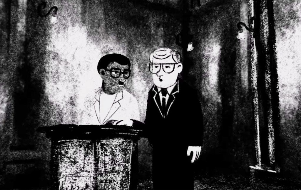 Preisträger bei Virtual Worlds: In Accused #2 streitet sich Walter Sisulu, langjähriges ANC-Mitglied und Mentor von Nelson Mandela, mit Staatsanwalt Percy Yutar. © FILMFEST MÜNCHEN 2019