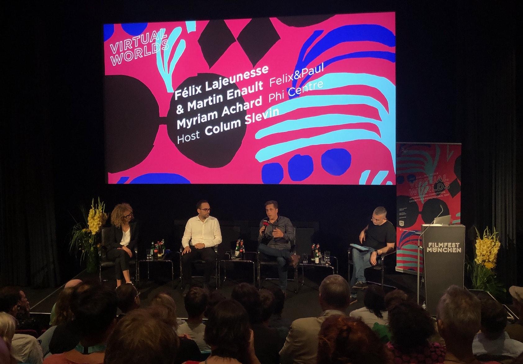 Panel bei Virtual Worlds und dem Filmfest München © VR Geschichten/ Pola Weiß