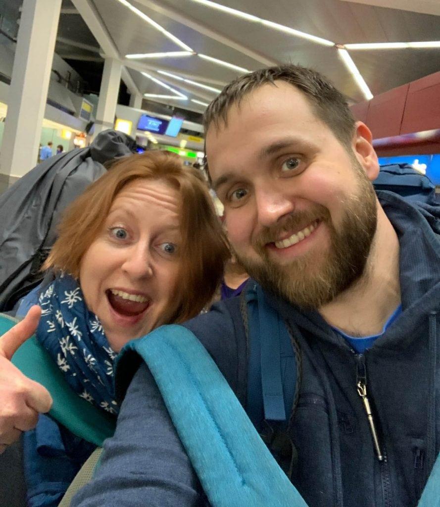 In Berlin am Flughafen vor der Resie (c) VR Geschichten
