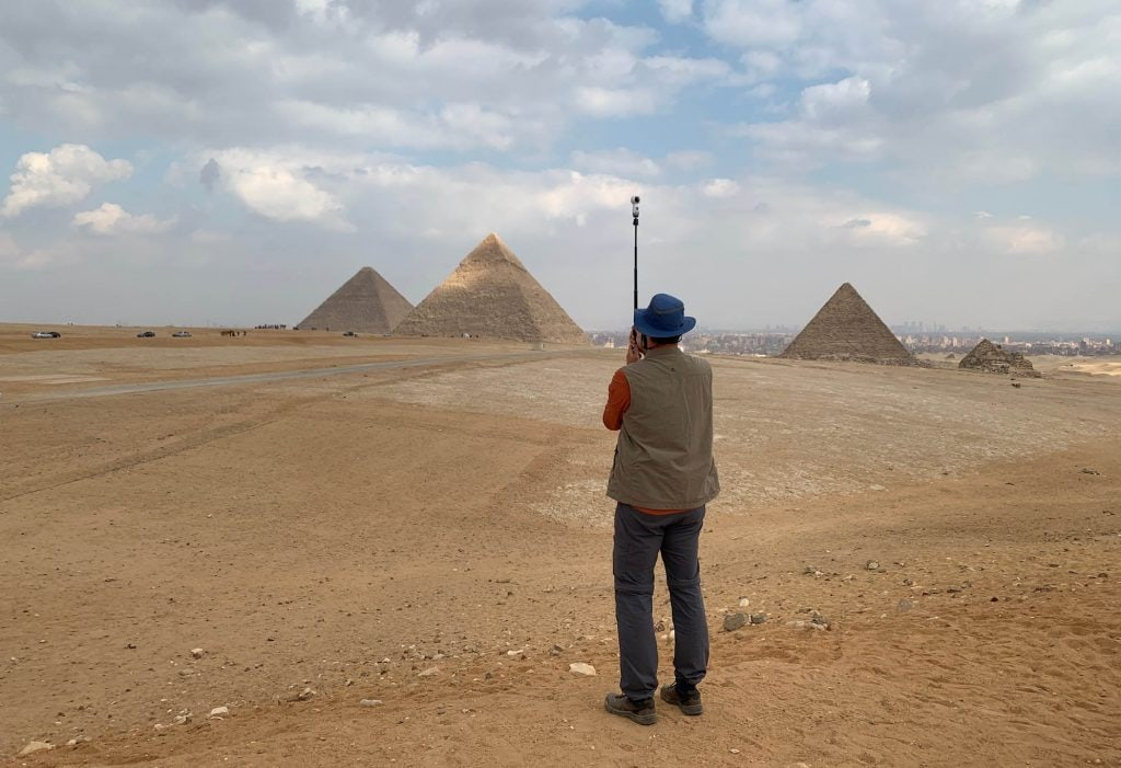 Pyramiden Ägypten mit Samsung Gear 360 © VR Geschichten