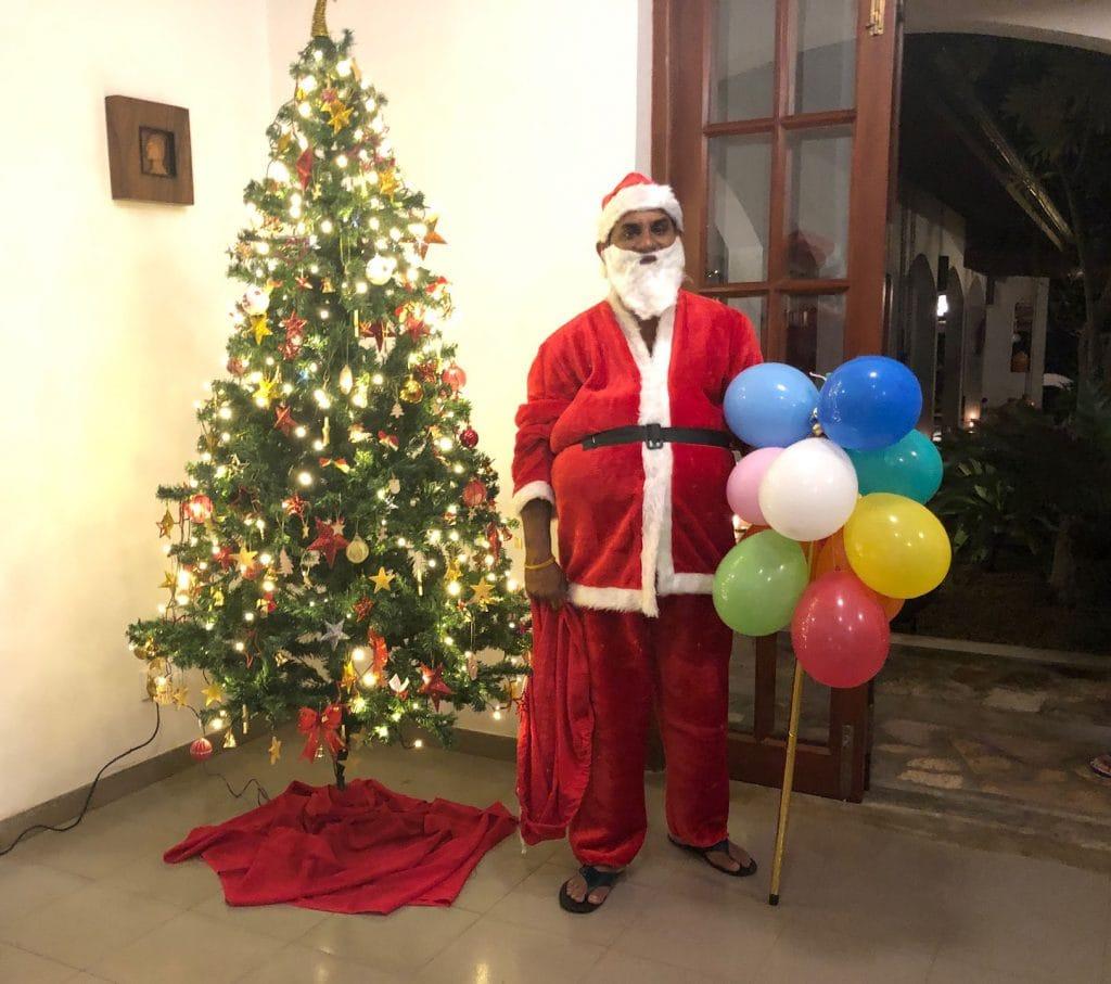 Weihnachtsfeier im Ayurveda-Hotel in Sri Lanka. © VR Geschichten
